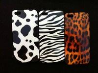 10pcs/lot Leopard case hard plastic case for iphone 5s 5