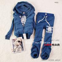 women's tracksuit 12 thickening sweatshirt vest three piece  100% cotton fleece print letter sports    winter Sports Hoodie Suit