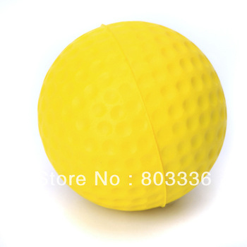 Free Shipping 5pcs PU Golf Ball Golf Training Soft Foam Balls Practice Ball - Yellow