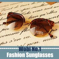 half sunglasses super vintage metal half frame leopard glasses 2013 womens sunglasses round lens designer eyeglasses freeship