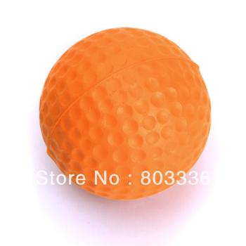 Free Shipping 10pcs PU Golf Ball Golf Training Soft Foam Balls Practice Ball - orange
