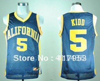 California Golden Bears #5 Jason Kidd NCAA Basketball Jersey Fast & Free Shipping