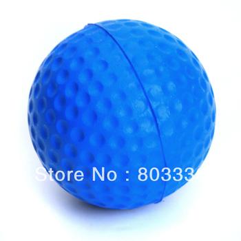 Free Shipping PU Golf Ball Golf Training Soft Foam Balls Practice Ball - Blue