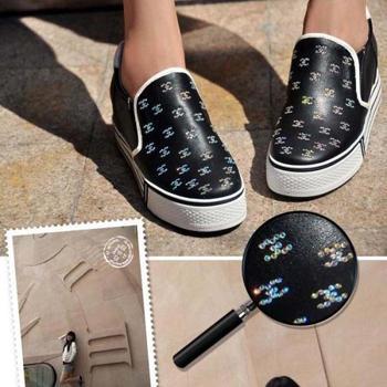 fashion rhinestone elevator genuine leather platform women's shoes casual shoes sports shoes  hiking shoes freeshipping