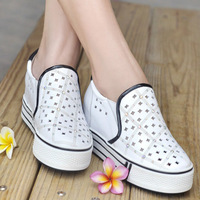fashion rhinestone elevator platform shoes cut outs  shoes casual women's shoes sports shoes freeshipping
