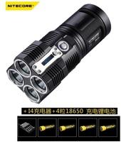 NITECORE TM26 Tiny Monster 4x Cree XM-L U2 led Cool White Flashlight 3500 lm Torches + I4 Charger,4 Pcs 18650 LI battery.