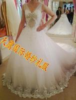 Wedding dress formal dress luxury SWAROVSKI rhinestone acrylic diamond ty88984