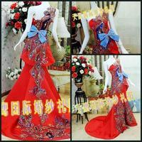 The bride wedding dress luxury SWAROVSKI rhinestone acrylic diamond ty99824