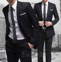 Slim male suit set groom wedding dress work wear business casual male suit