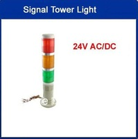 Industrial 24V AC/DC Red Yellow Green LED Signal Tower Lamp Flash Warning Stack Light Free shipping