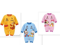 Mickey&Minnie Spring toddlers/baby romper/clothing/cllothes100%cotton eco-friendly sweat-absorbent