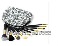 10pcs/set  Makeup Brush Cosmetic Brushes Set With Waterproof  Pouch Free Shipping