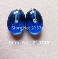 rice art pendant Freeshipping!! Water Drop blue Glass  Vial Pendants Jewelry Pendant SC6931 Perfume vial bottle