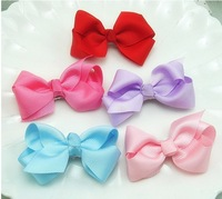 Free shipping 40 pcs baby ribbon bows without clip,hair bow,Girls' hair accessories