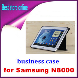 Smart Magnetic Book Case Cover Stand For Samsung Galaxy Note 10.1 N8000 N8010 free shipping(China (Mainland))