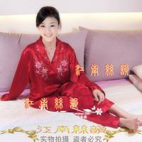 new fashion Faux silk sleepwear women's silk sleepwear lovers set lounge women's sleep set