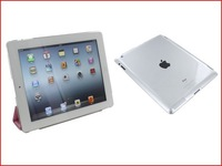 Freeshipping 10 PC/lot Clear Crystal Hard Back Case Work with Smart Cover For iPad 2 The New iPad 3rd