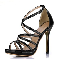 2013 Star style lady pumps high heel sandals wedding dress shoes for women dress  evening sanda O64OA-4bls