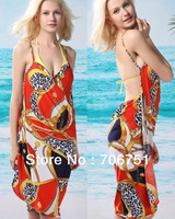 Free shipping 2013 New Hot Women Sarong Bikini Cover-Ups Beach Wrap Dress Free Size 10pcs/lot