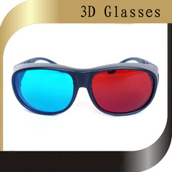 Yanjing 3dglasses circle plastic red and blue(China (Mainland))