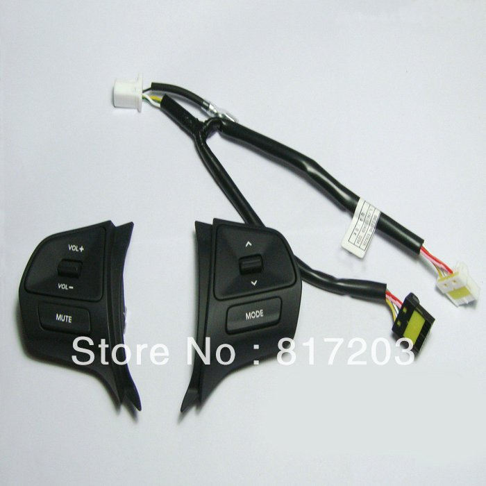 Free shipping 2011-2012 KIA Rio/K2 High quality original Steering wheel Audio and channel control button(China (Mainland))