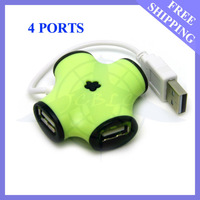 3PCS/LOT FREE SHIPPING HIGH SPEED 4 PORT USB HUB SPLITTER FOR PC/LAPTOP#DN004