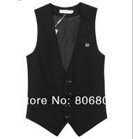Free shipping Men Slim suit vest four buttons size :M L XL XXL XXXL wholesale pirce