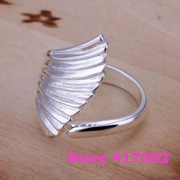 R122 SIZE 8# Angel Wings Ring 925 silver ring Fashion jewelry wedding rings /kila szua