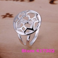 R114 SIZE 6-10# A round hollow ring 925 silver ring Fashion jewelry wedding rings /kiea szna