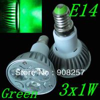 free shipping 5pcs E14 85-265V High Power green LED bulb Lamp Light spotlight