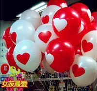 12 inch heart love balloons wedding supplies balloons printed balloons