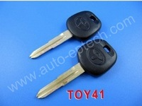 30pcs Brand New uncut blade TOY41 toyota auto transponder key ID4C transponder chip,toyota ID 4C transponder chip keys,blank key
