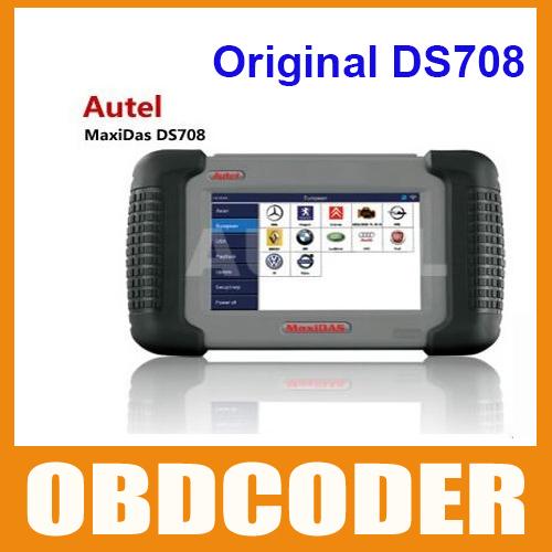Free Shipping Professional Autel MaxiDas DS708 Latest Version,Original Autel DS708,Car Diagnostic Tool Update Online(China (Mainland))