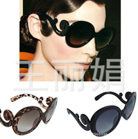 Round beach sunglasses lady gaga same models Europe America style 7color retro sunglasses for women TY05