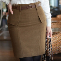 Women's female  woolen short skirt  slim hip short skirt bust skirt