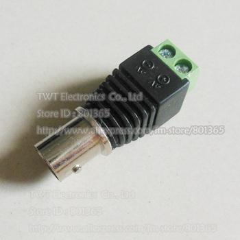 CAT5 To Camera CCTV Video Balun BNC female jack AV Screw Terminal Connector ,10Qty  , Free shipping