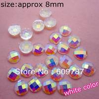 Free Shipping-white 200pcs super shine Nail Art Decoration glitter stone