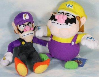 """2pcs mario bros waluigi wario 9-11"""" plush toy doll"""