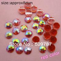 Free Shipping-red 200pcs super shine Nail Art Decoration glitter stone