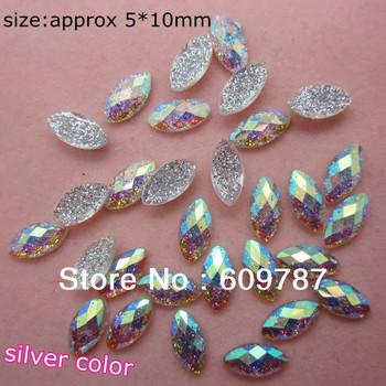 Free Shipping-silver 200pcs super shine Nail Art Decoration glitter stone