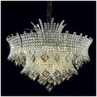 Free Shipping Modern Luxury Crystal Pendant Hanging Lamp with 12 Lampholders at Wholesale Price (Model:CC-N032-8+4)