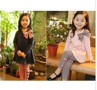 2013 spring and autumn girls clothing suit baby girl's t-shirt+ pants 2pcs clothing set girls casual clothing set 5pcs/lot