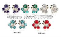 factory price 10colors mix free shipping 10sets/lot new necklace earring crystal rhinestone jewelry set