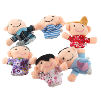 Baby Kids Educational Toys Finger Plush Toys Happy Family Hot Selling