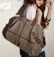 2012 women's handbag travel bag casual threeoperating big bag canvas bag messenger bag female