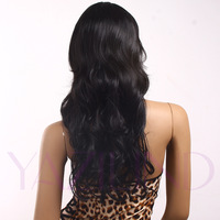 Black 2012 Winter New Style Curly Wavy Sexy Long Ramp Bangs Women Wig Cap
