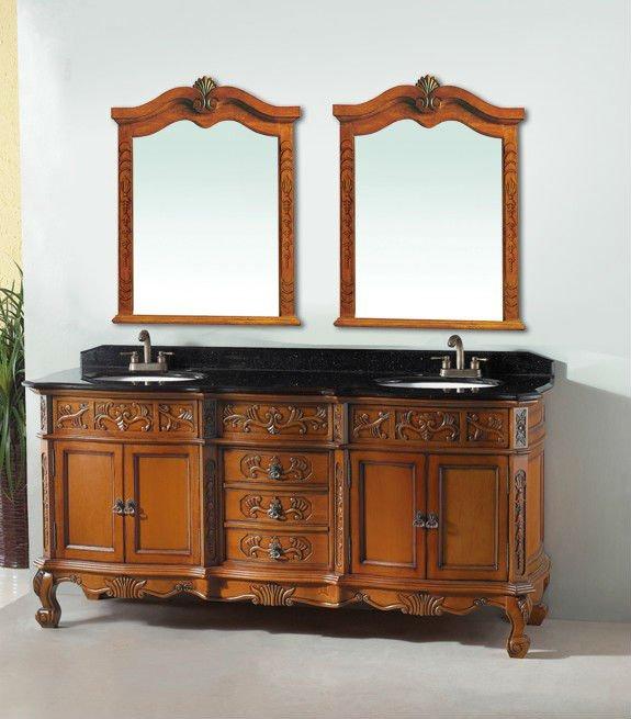 Luxe Meuble Lavabo Double Vasque De Bain Vanit Antique