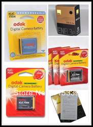 Mixed order 10pcs for Kodak Klic 7001, 10pcs for Kodak Klic 7004,10pcs Klic 7006,10pcs for Nikon ENEL3e, 10pcs for Nikon ENEL5(China (Mainland))