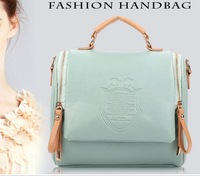 2013 New Women Girls Korea PU Leather Messenger Bag Handbag Fashion Shoulder Bag Totes Purse With Chain