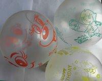 Transparent color printing balloon